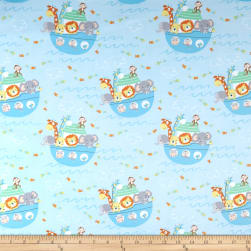 Timeless Treasures Flannel Ark Party Baby Noah's Ark