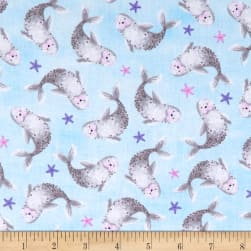Timeless Treasures Meow-Maids Seals & Starfish Arctic Fabric