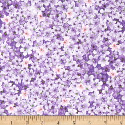 Timeless Treasures Isabelle Packed Mini Flowers Purple Fabric