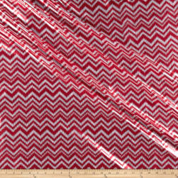 Shaky Metallic Chevron Spandex Red/White