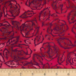 Banyan Batiks Roses And Thorns Blush Red/Purple Fabric