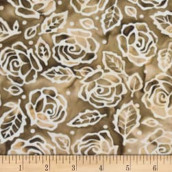 Banyan Batiks Roses And Thorns Earth Brown/Cream