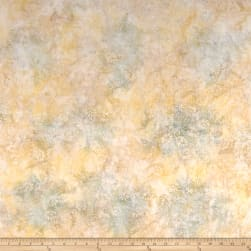 Dancing Leaves Batik Beige Fabric