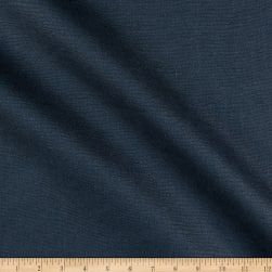 India Imports 10 oz 100% Linen Basketweave Navy
