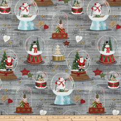Stof Christmas December Rouge Fabric