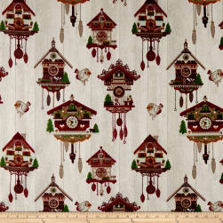 Stof Christmas Coucousuisse Rouge Fabric