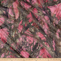 True Timber Organza Camo Couture Pink Fabric
