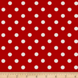 Liverpool Double Knit Polka Dot Red/Ivory