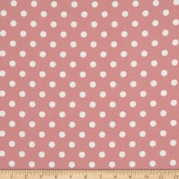 Liverpool Double Knit Polka Dot Rose Pink/Ivory Fabric
