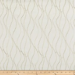 Kravet 9804 Embroidered Sheer Metallic Beige Fabric