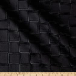 Kravet Alya Faux Leather Embroidered Black Fabric