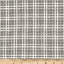 Kaufman Campsite Critter Plaid Fog Fabric