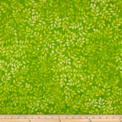 Kaufman Artisan Batik: Color Source Leaves Wasabi Fabric