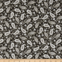 Kaufman Mayfield Paisley Pewter Fabric