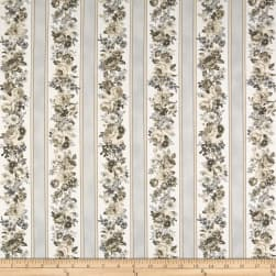 Kaufman Mayfield Stripes Flowers Antique