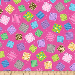 QT Fabrics Crazy For Crafting Patches Dark Pink
