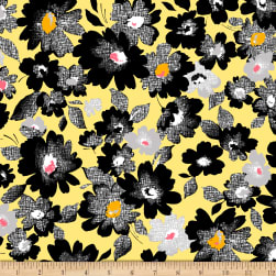 QT Fabrics  Nadine Packed Floral Yellow