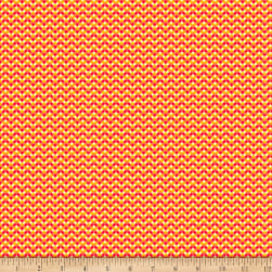 QT Fabrics Turnowsky Slow Poke Chevron Red/Yellow