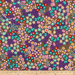 QT Fabrics  Adeline Packed Floral Navy