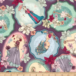 QT Fabrics Mirabelle Midnight Garden Tossed Picture Patches