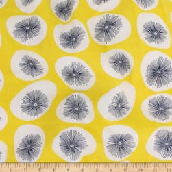 Telio Verona Cotton Rayon Voile Retro Dot Lemon