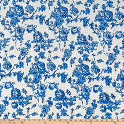 Telio Dakota Rayon Jersey Knit Floral Royal Fabric