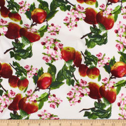 Telio Bloom Stretch Cotton Sateen Apple Orchard White