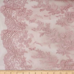 Telio Essie Embroidery Lace Whisper Pink Fabric