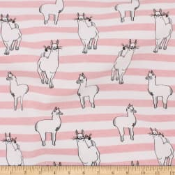 Telio Organic Stretch Cotton Jersey Llama Pink Fabric