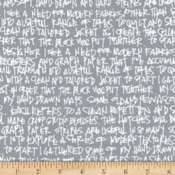 Kaufman Architextures Wide Text Pewter