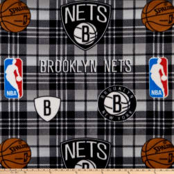 NBA Brooklyn Nets Plaid Fleece Multi