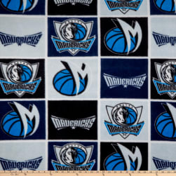 NBA Dallas Mavericks Block Fleece Multi Fabric