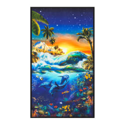"Kaufman Picture This Sealife 36"" Panel Surf"
