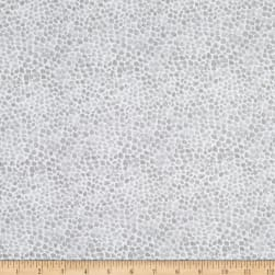 Wilmington Bloom True Pebble Texture Gray Fabric