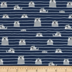 Michael Miller Acadia Otter Assembly Navy Fabric