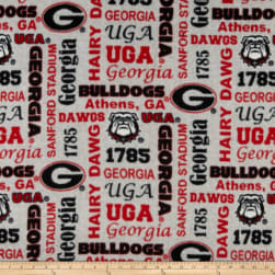 NCAA Georgia Bulldogs Fleece Heather Verbiage