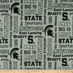 NCAA Michigan State Spartans Fleece Heather Verbiage