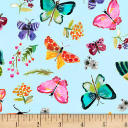 Dear Stella Digital Spring Theory Butterflies Aqua