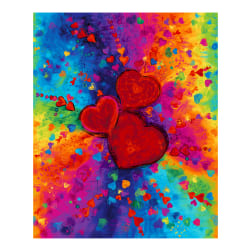 Timeless Treasures Digital Full Heart 36'' Panel Bright Fabric