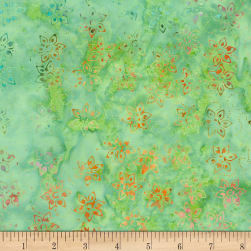 Timeless Treasures Tonga Batik Aruba Daffodil Cactus Fabric