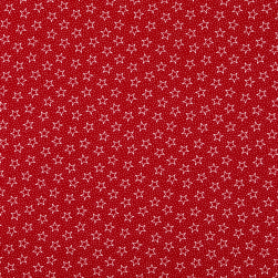 Patriotic 108'' Quilt Backs Star Dot Red/White/Antique Fabric