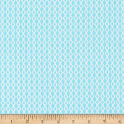 Henry Glass Flannel Puppy & Pals Geometric Lattice Blue Fabric
