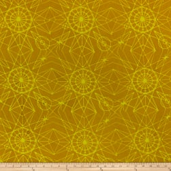 Alison Glass Handcrafted Batiks Observatory Astronomy Chartreuse