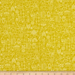 Andover Sun Print 2019 Collection Chartreuse