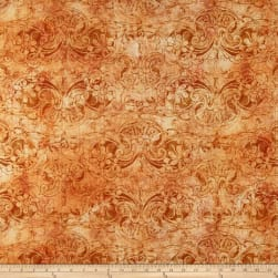 Susan Winget Modern Damask Heavy Linen Multi Fabric