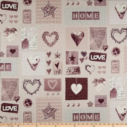 Stof Fabrics Denmark Cosy Home Heart Patch Blush