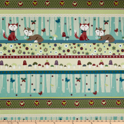 Stof Fabrics Denmark Foxie Fox Woodland Stripes Dusty