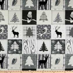 Stoffabric Denmark Winter Is Coming Woodland Patch Black