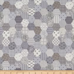 Fade In Tiny Hexies Grey