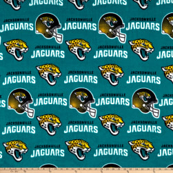 NFL Fleece Jacksonville Jaguars Gold/Black/Aqua Fabric